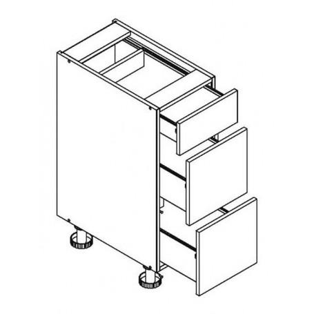 Mia Picard bänkskåpmed 3 lådor - 30x82 cm