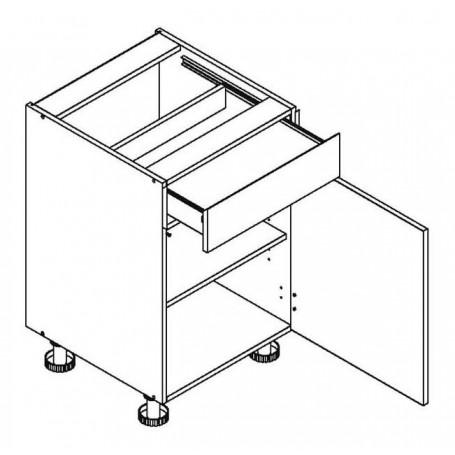 Mia Picard bänkskåp med 1 låda - 60x82 cm