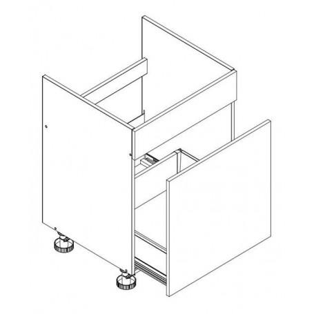 Oliwia bänkskåp för diskbänk med 1 låda - 60x82 cm