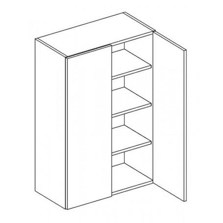 BONO väggskåp med hyllplan / 2 dörrar - 60x92 cm