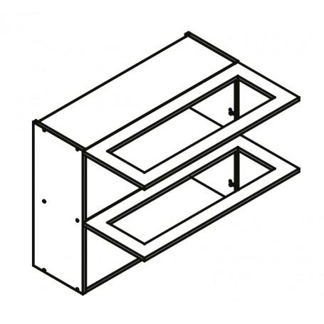 BONO överskåp horisontalt med 2 vitrindörr - 80x72 cm