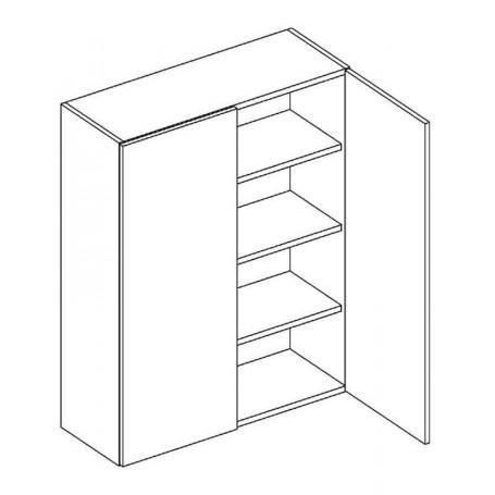 BONO väggskåp med hyllplan/2 dörrar - 80x92 cm