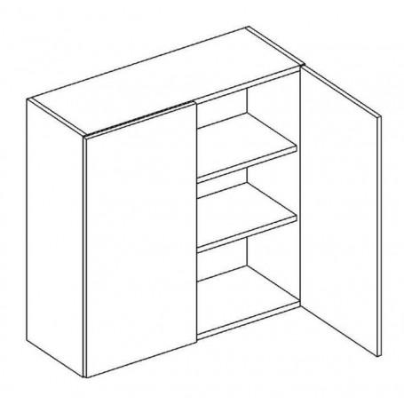 Bono väggskåp med hyllplan/2 dörrar - W80
