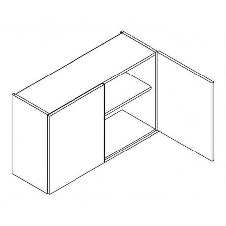 BONO väggskåp med hyllplan/2 dörrar - 90x56 cm