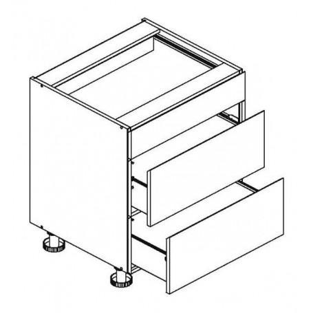 BONO bänkskåpmed 3 lådor - 60x82 cm