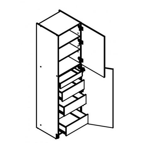 BONO högskåp med lådor - 60x233 cm