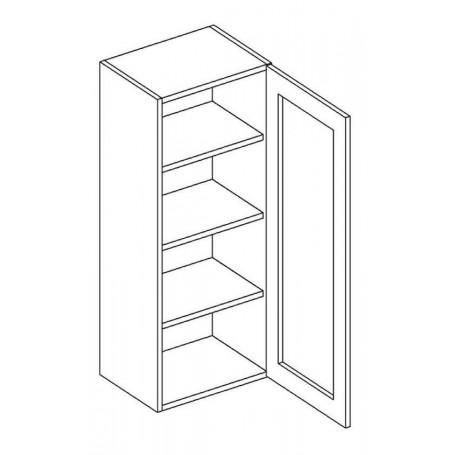 NERO väggskåp med 1 vitrindörr - 40x92 cm