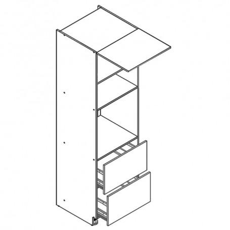 BONO högskåp för inbyggnadsugn och mikrovågsugn - 60x213 cm