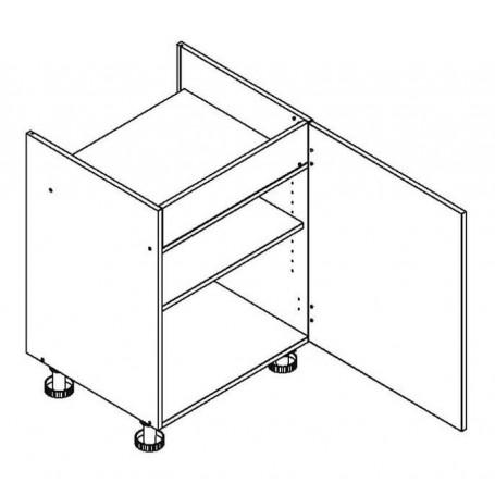 BONO bänkskåp för häll D60 PC P/L