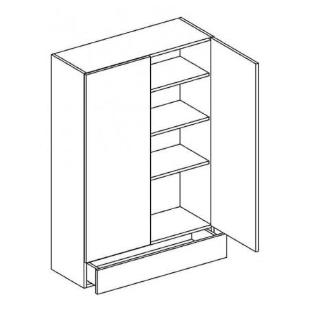 BONO väggskåp med 1 låda - 80x128 cm
