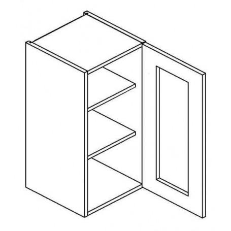 NERO väggskåp med 1 vitrindörr - 30x72 cm