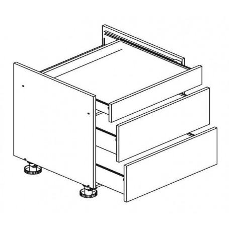 BONO bänkskåp för häll med 3 lådor - 80x82 cm