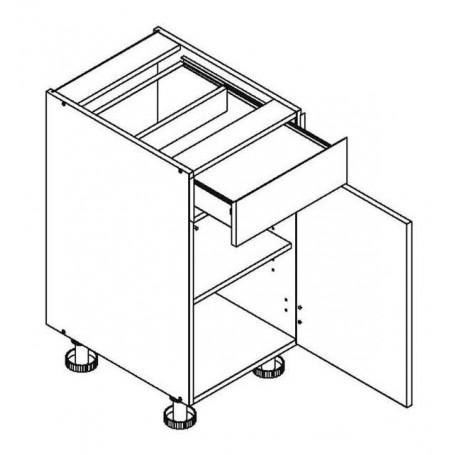 Mia Picard bänkskåp med 1 låda - 40x82 cm