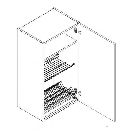 BONO väggskåp med diskställ och droppbricka - 50x92 cm