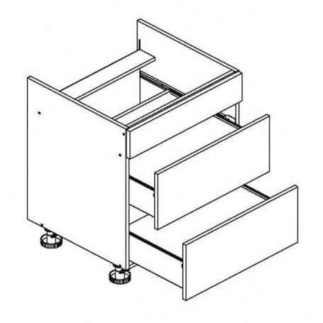 BONO bänkskåp för häll med 2 lådor - 80x82 cm