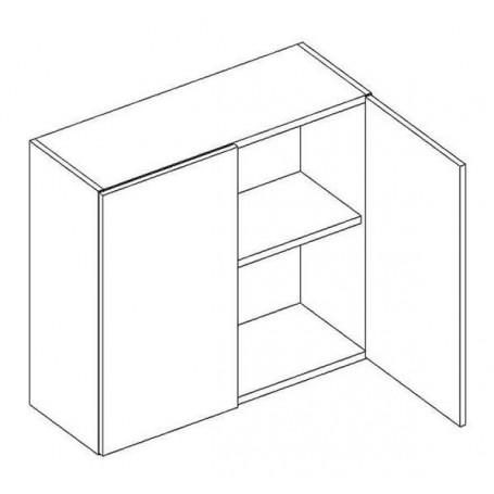 BONO väggskåp med hyllplan / 2 dörrar - 60x56 cm