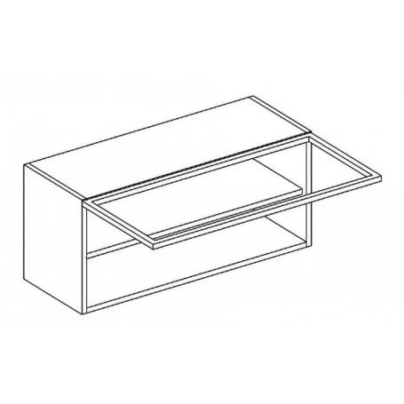 BONO överskåp horisontalt med vitrindörr - 80x36 cm