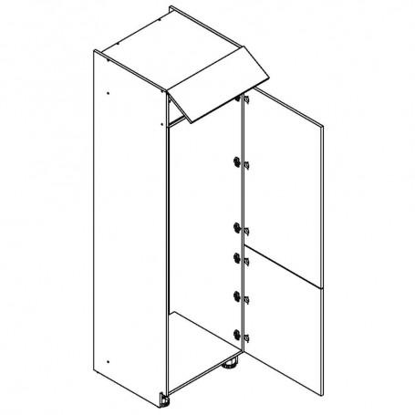 Oliwiahögskåp för kyl/frys med 3 dörrar - 60x218 cm