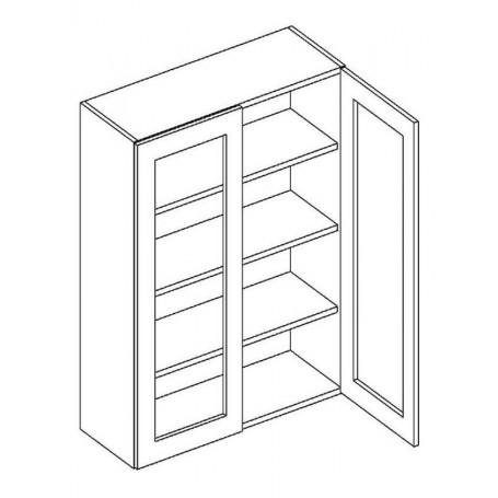 NERO väggskåp med 2 vitrindörrar - 60x92 cm