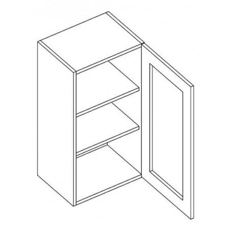 NERO väggskåp med 1 vitrindörr - 40x72 cm