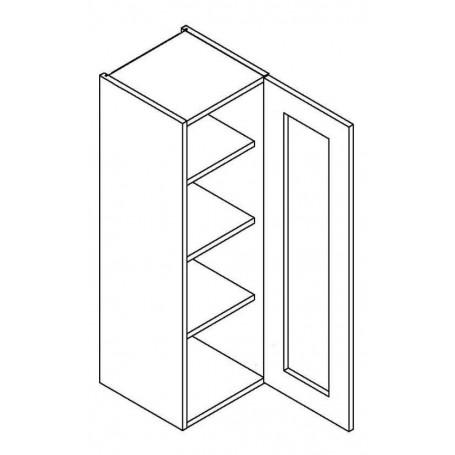 NERO väggskåp med 1 vitrindörr - 30x92 cm