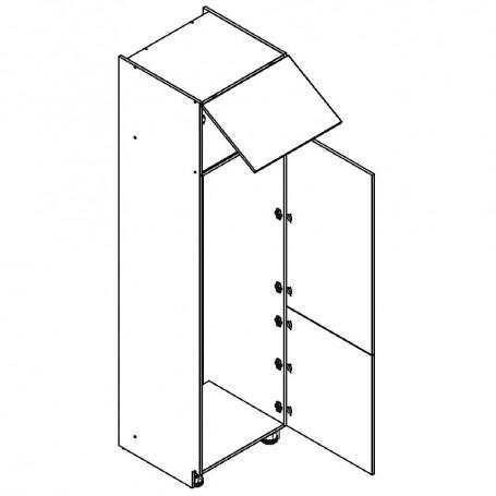 Oliwiahögskåp för kyl/frys med 3 dörrar - 60x233 cm