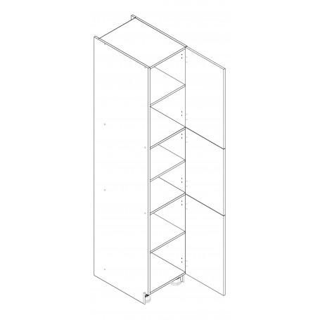 BONOhögskåp med 3 dörrar - 40x213 cm