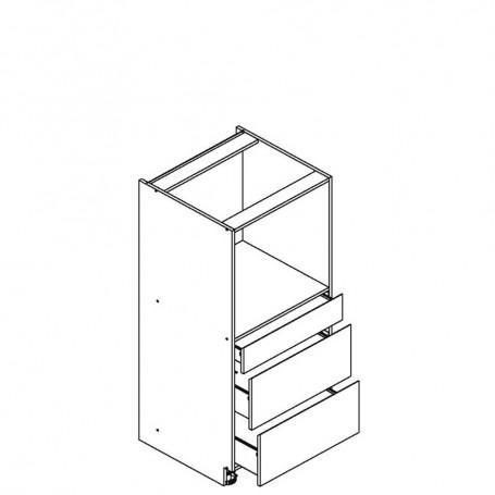 BONO högskåp för inbyggnadsugn med 3 lådor - 60x143 cm