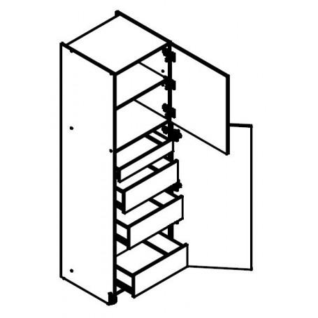 BONO högskåp med lådor - 60x213 cm
