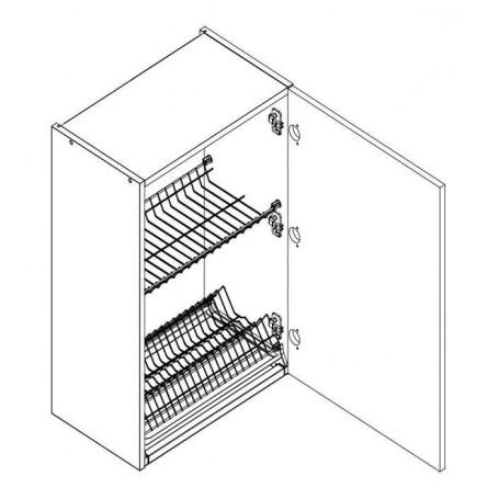 BONO väggskåp med diskställ och droppbricka - 50x72 cm
