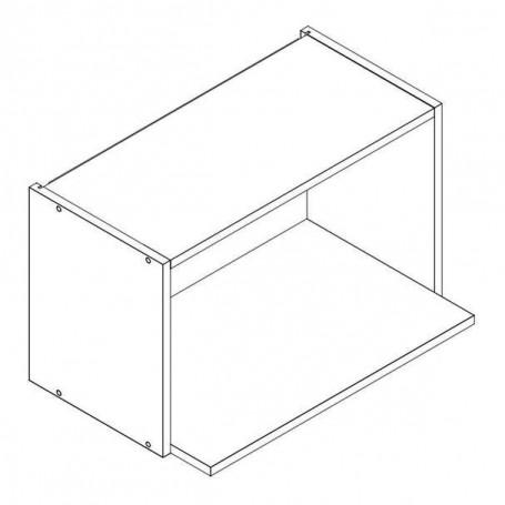 BONO väggskåp för mikrovågsugn utan dörr - 60x36 cm