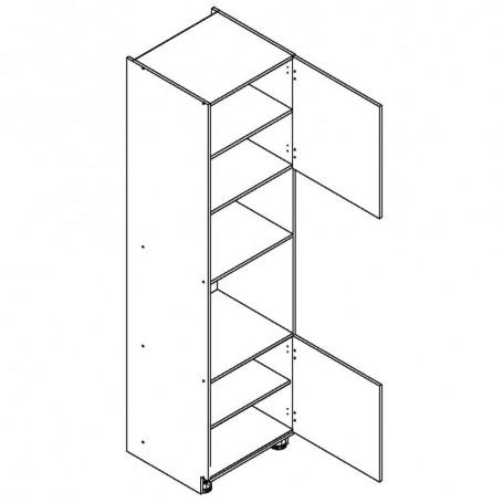 BONO högskåp för inbyggnadsugn och mikrovågsugn - 60x233 cm