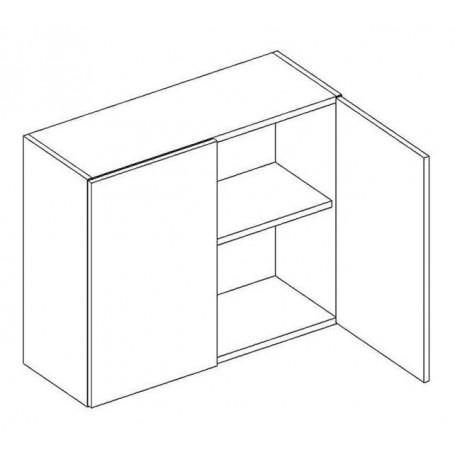 BONO väggskåp med hyllplan/2 dörrar - 80x56 cm