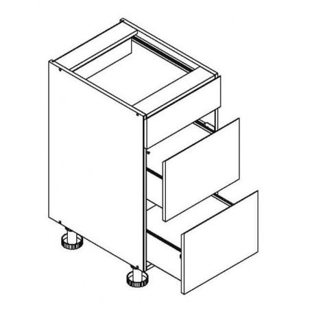 Mia Picard bänkskåpmed 3 lådor - 40x82 cm