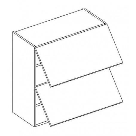 BONO väggskåp horisontalt med 2 dörrar - 60x72 cm
