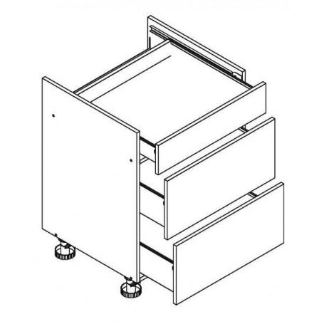 BONO bänkskåp för häll med 3 lådor - 60x82 cm