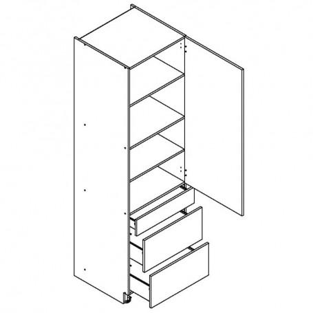 BONO högskåp med 3 lådor - 60x213 cm