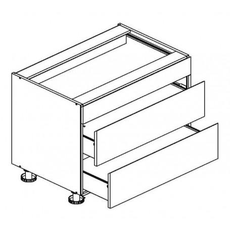 BONO bänkskåp med 3 lådor  - 80x82 cm