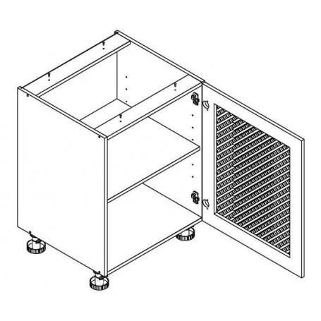 MONIUSZKO bänkskåp med trägaller - 60x82 cm