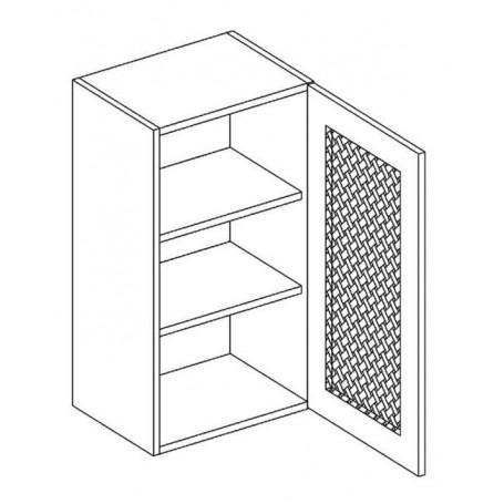 MONIUSZKO väggskåp med hyllplan / trägaller - 40x72 cm