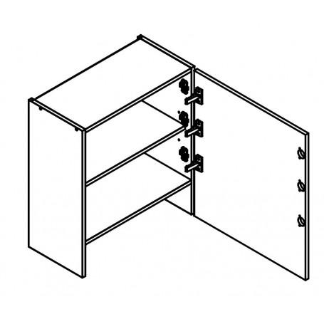 BONO överskåp horisontalt till inbyggd spiskåpa - 50x68 cm