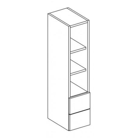 MONIUSZKO väggskåp utan dörr med 2 lådor - 20x92 cm