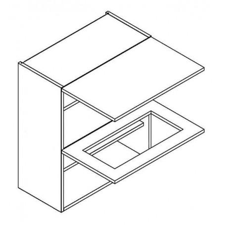 MONIUSZKO väggskåp horisontalt med 1 vitrindörr - 60x72 cm
