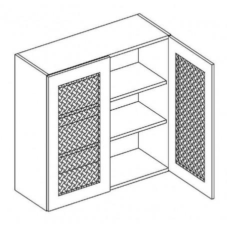 MONIUSZKO väggskåp med hyllplan / trägaller - 80x72 cm