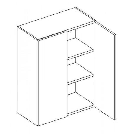 BONO väggskåp med hyllplan / 2 dörrar - 60x72 cm