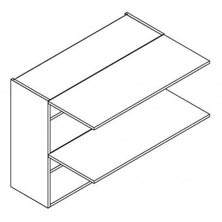 BONO väggskåp horisontalt med 2 dörrar - 80x72 cm