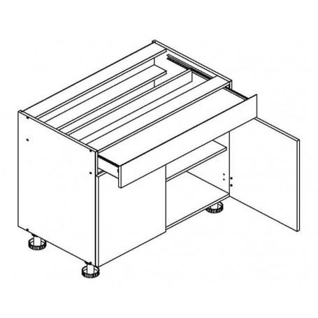 BONO bänkskåp med en låda - 80x82 cm