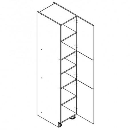 NERO högskåp med 3 dörrar - 40x218 cm