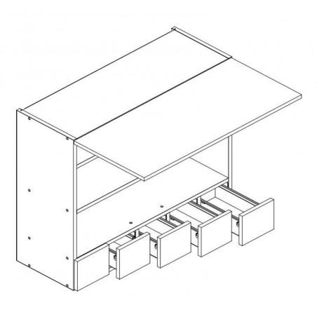 MONIUSZKO väggskåp horisontalt med 2 dörrar - 80x72 cm