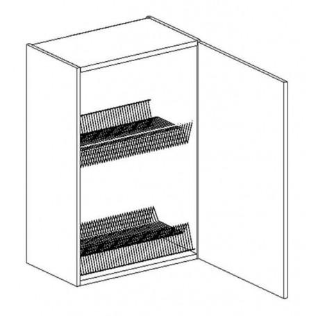 BONO väggskåp med diskställ och droppbricka - 60x72 cm